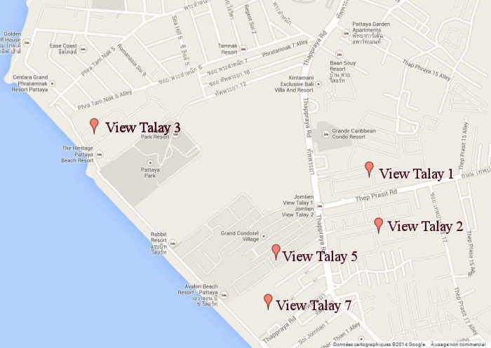 Appartement Pattaya Location